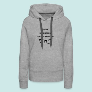 Keep Cool Glasses - Sweat-shirt à capuche Premium pour femmes