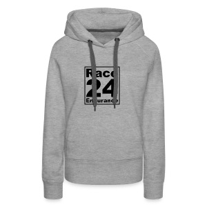 Race24 logo in black - Women's Premium Hoodie