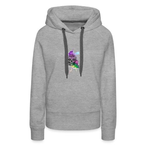 crane mexicain aquarelle - Sweat-shirt à capuche Premium pour femmes