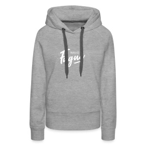 Radio Fugue Blanc - Sweat-shirt à capuche Premium pour femmes