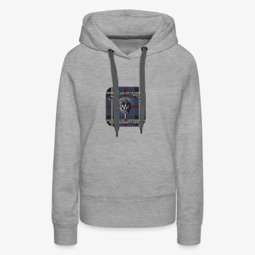 Chardon et Tartan vector logo high res - Sweat-shirt à capuche Premium pour femmes
