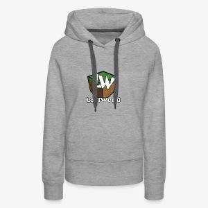 Logo LastWorld Transparent - Sweat-shirt à capuche Premium pour femmes