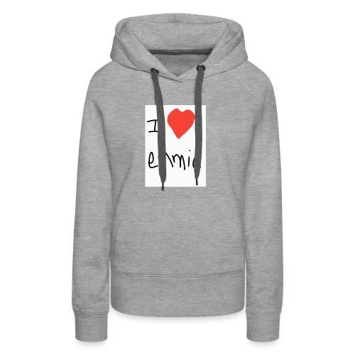 i love emmie - Sweat-shirt à capuche Premium pour femmes