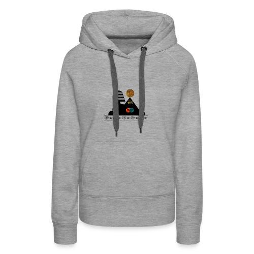 Sphynx Bitcoin - Sweat-shirt à capuche Premium pour femmes
