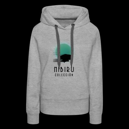 NibiruLogo - Sudadera con capucha premium para mujer