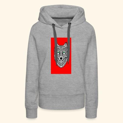 wolf2 - Frauen Premium Hoodie