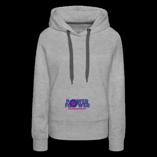 Logo PowerFlower colori - Felpa con cappuccio premium da donna