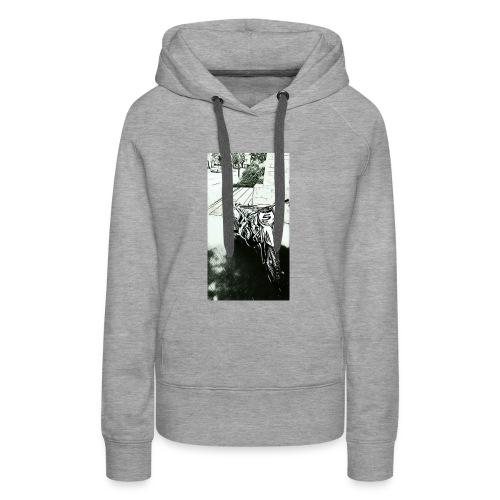 Pocket cross - Sweat-shirt à capuche Premium pour femmes