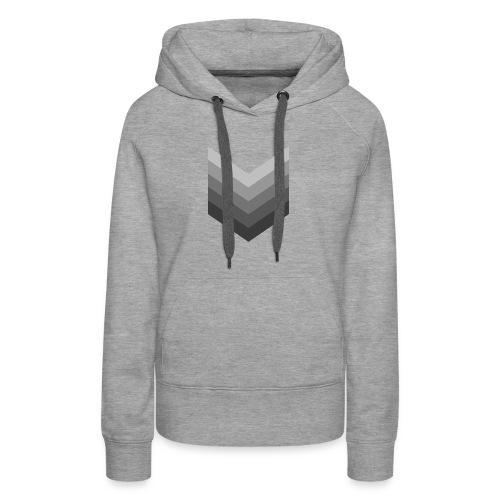 Chevrons gris - Sweat-shirt à capuche Premium pour femmes