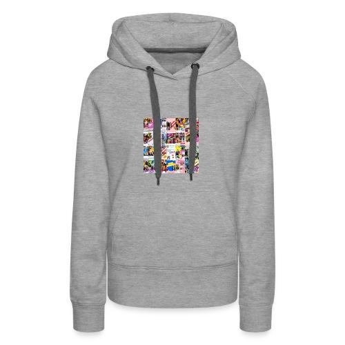 Supercollage - Sudadera con capucha premium para mujer