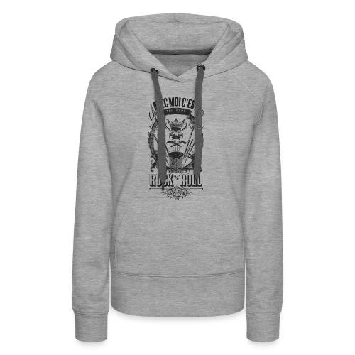 Rock'n'roll - Sweat-shirt à capuche Premium pour femmes