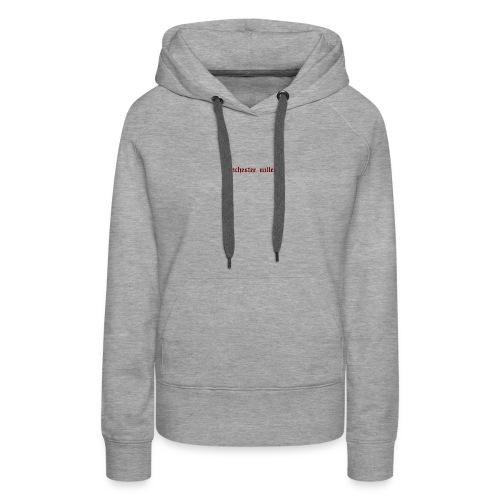 logo trenchester valley - Sweat-shirt à capuche Premium pour femmes