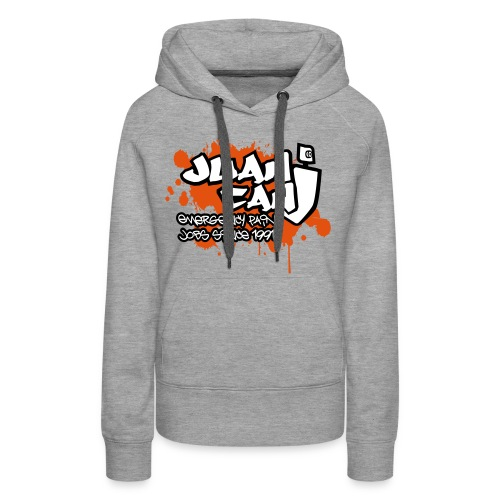 Juan can logo for spreadshirt Orange - Women's Premium Hoodie