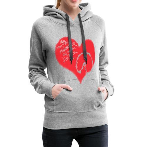 Dein Hufabdruck auf meinem Herzen - Frauen Premium Hoodie