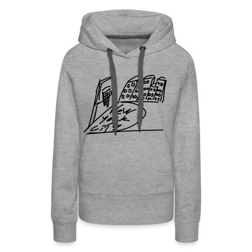 New_York - Sweat-shirt à capuche Premium pour femmes