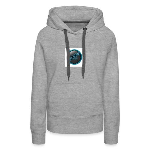 kahz clan logo wit - Vrouwen Premium hoodie