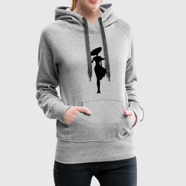kvinde - Dame Premium hættetrøje