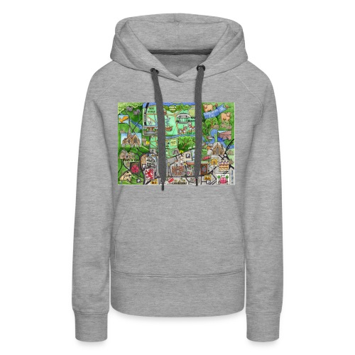 Staycation Live map - Women's Premium Hoodie