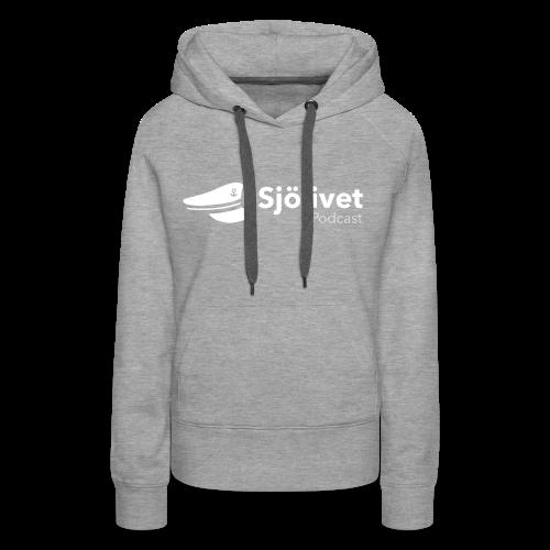 Sjölivet podcast - Vit logotyp - Premiumluvtröja dam
