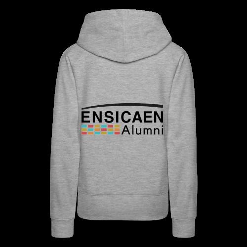 Collection Femmes Ensicaen Alumni - Sweat-shirt à capuche Premium pour femmes