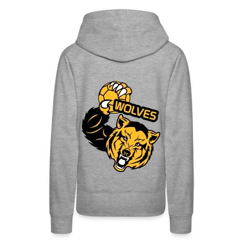 Wolves Handball - Sweat-shirt à capuche Premium pour femmes
