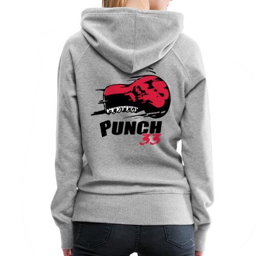 logo punch 33 - Sweat-shirt à capuche Premium pour femmes