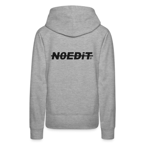 No Edit Black Logo - Women's Premium Hoodie