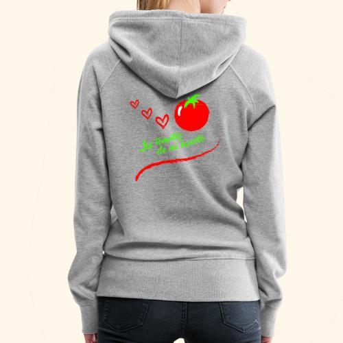 Tomates de mi huerto - Sudadera con capucha premium para mujer