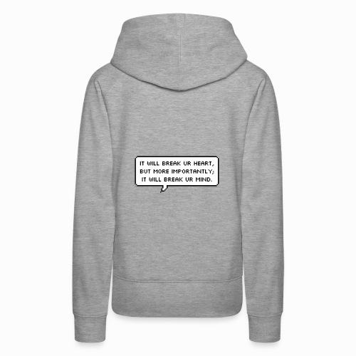 Inspiring sentence - Sweat-shirt à capuche Premium pour femmes