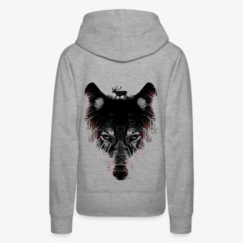 Wolfs - Sweat-shirt à capuche Premium pour femmes