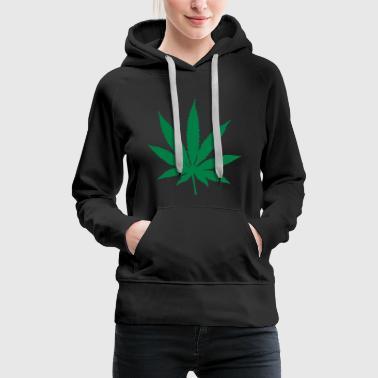 Cannabis Leaf - Premiumluvtröja dam