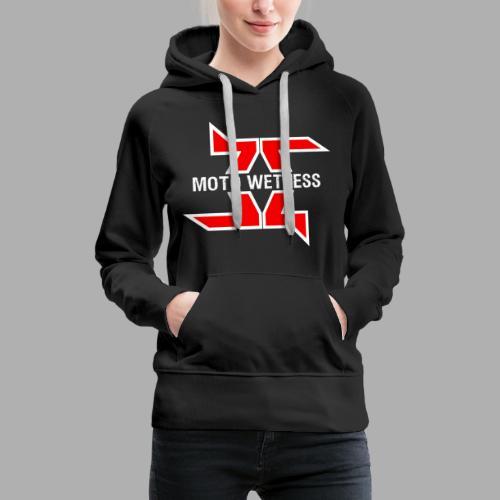 Moto Wetness - WHITE / RED EDITION - Women's Premium Hoodie