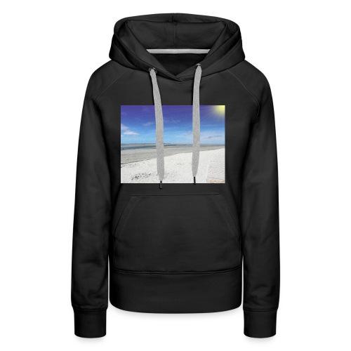 The Beach- La plage - Sweat-shirt à capuche Premium pour femmes