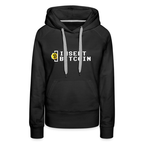 INSERT BITCOIN - Frauen Premium Hoodie