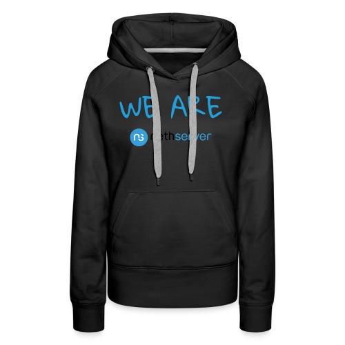 blue-black-rectangle - Women's Premium Hoodie