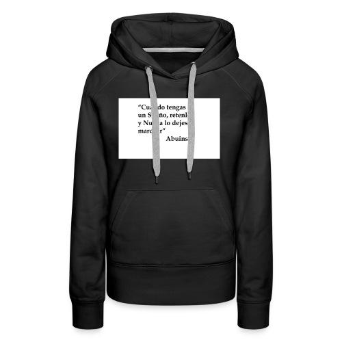 Frase camiseta Abuins 2 editado 1 - Sudadera con capucha premium para mujer