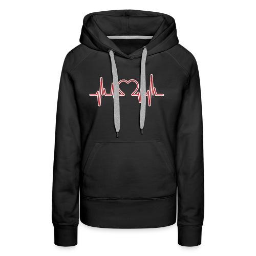 heartbeat 4x - Frauen Premium Hoodie