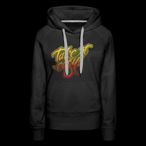 Take it easy yellow-red - Frauen Premium Hoodie
