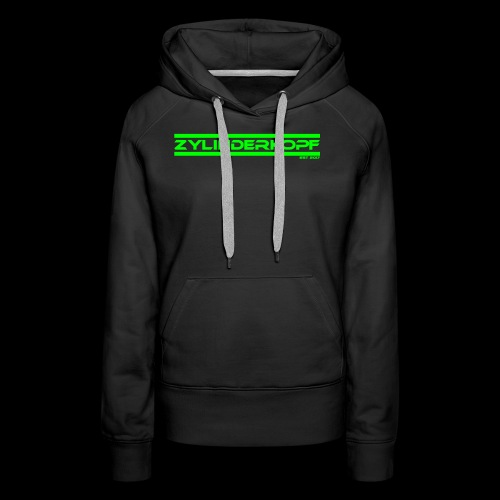 Zylinderkopf classic green Edition - Frauen Premium Hoodie