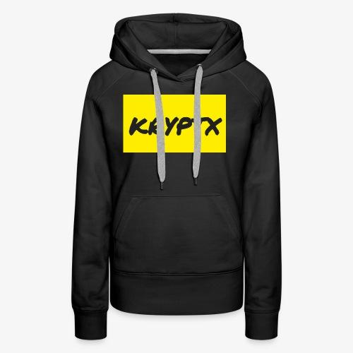 kryptx - Sweat-shirt à capuche Premium pour femmes