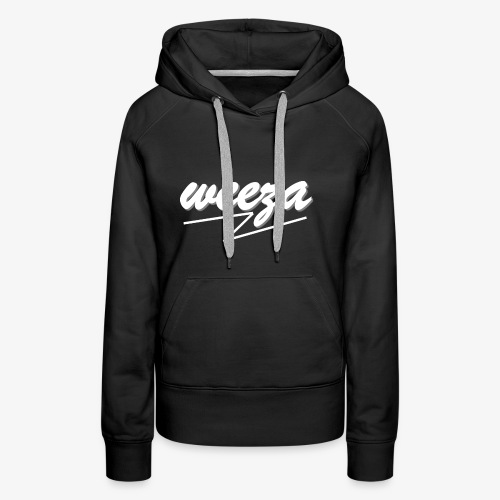 White_on_Black_weeza - Frauen Premium Hoodie
