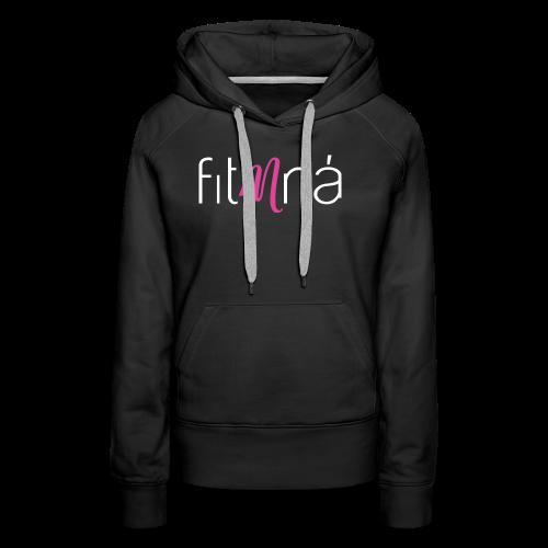 Fit Mná Logo Black Background - Women's Premium Hoodie