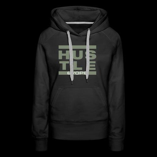 Hustle (olive) - Frauen Premium Hoodie