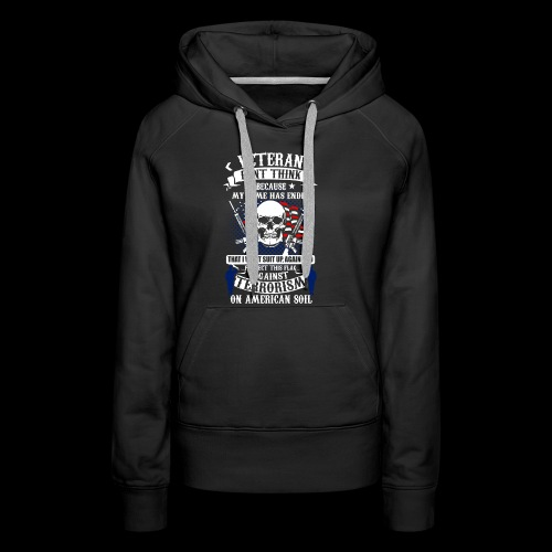 Veteran soldier terror terrorism skull army usa us - Frauen Premium Hoodie