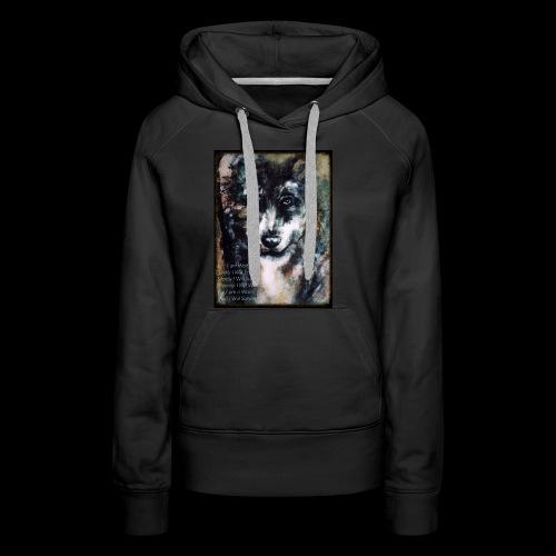 wolf - Vrouwen Premium hoodie