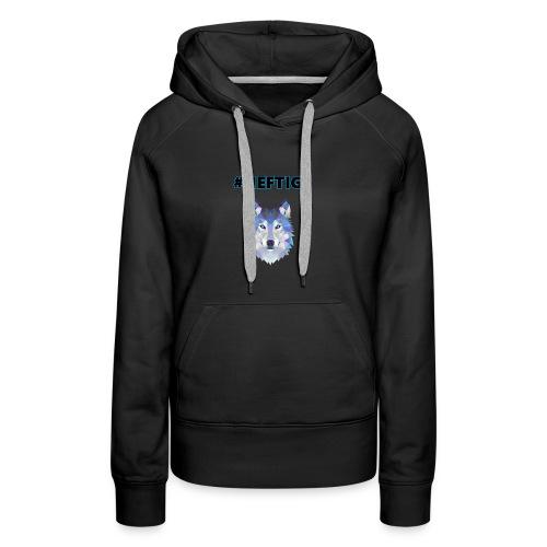 Heftiger Wolf (Blau) - Frauen Premium Hoodie