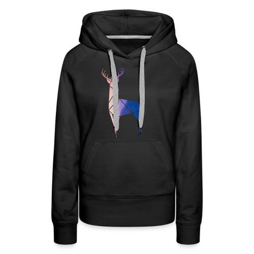 Mr. Sunset Deer - Bluza damska Premium z kapturem