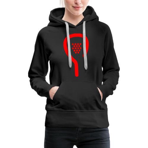 raquette rouge - Sweat-shirt à capuche Premium pour femmes