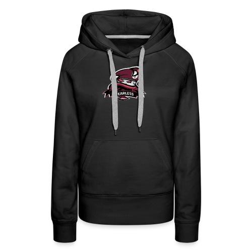 Logo Chaine Fearless TM - Sweat-shirt à capuche Premium pour femmes