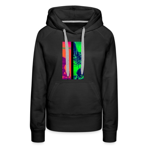 Pop-Art Double Flash Color twist New Neon - Frauen Premium Hoodie